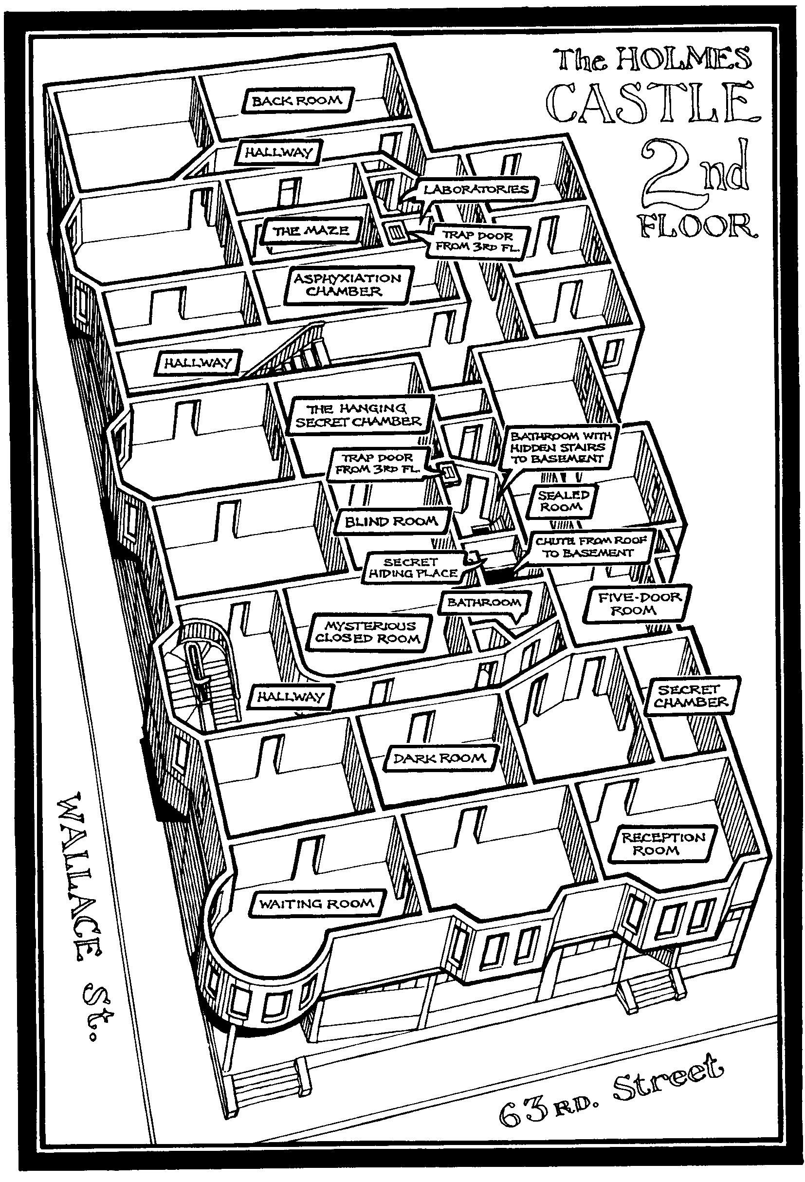 The castle h h holmes for H and h homes floor plans